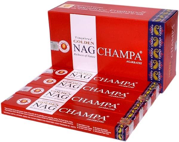 Vijayshree Golden Nag Champa Premium Incense Stick Box 12 Pack Incense