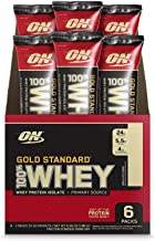 Optimum Nutrition Gold Standard 100% Whey Protein Powder Individual Stick Packs, Vanilla Ice Cream, 6 Count