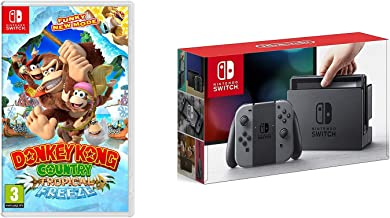 Nintendo Switch Console System 32GB Gray Joy-Con Wireless, Donkey Kong Bundle