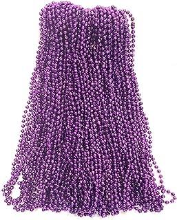 Purple Mardi Gras Beads 33 inch 7mm, 6 Dozen, 72 Necklaces