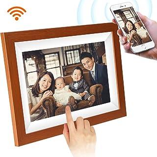 SCISHION木目調WiFiデジタルフォトフレーム 1280*800高解像度タッチスクリーン IPS視野角 16GB内部ストレージ 1080P写真/動画/音楽再生 家族/友人/彼女/彼氏などへのプレゼント装飾用—どこでもいつでも、アプリFrameoで喜びを分かち合おう 日本語説明書(10.1インチ)