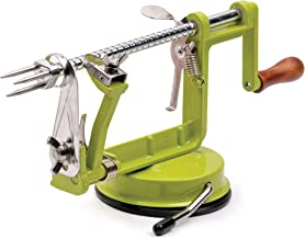 "RSVP International (APLR) Green Apple Slicer, Corer, Peeler | Suctions to Countertop | Cuts Perfect .25"" Slices 