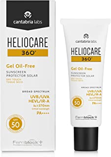 Heliocare 360 Oil-Free Gel SPF 50 50ml / Gel Sunscreen For