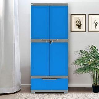 Nilkamal Freedom FMDR1B with Drawer Plastic Cabinet Blue , 4 Doors