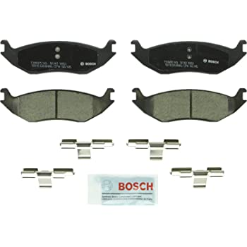 Bosch BC967 QuietCast Premium Ceramic Disc Brake Pad Set For: Chrysler Aspen; Dodge Ram 1500, Durango, Ram 1500 Van; Ram 1500, Rear