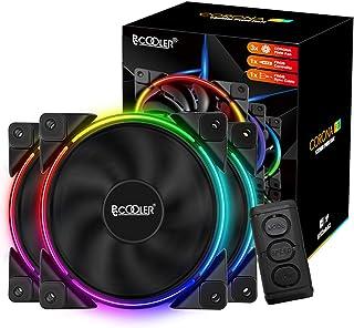 Pccooler 120mm Fan Moonlight Series, PC-3M120 RGB LED Computer Case Fan - PWM PC Cooling Fan - Dual Light Loop Quiet Fan/M...