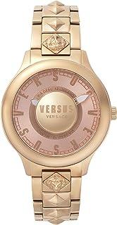 ساعة فيرساس انالوج مينا ذهبية حمراء للنساء VSP410618