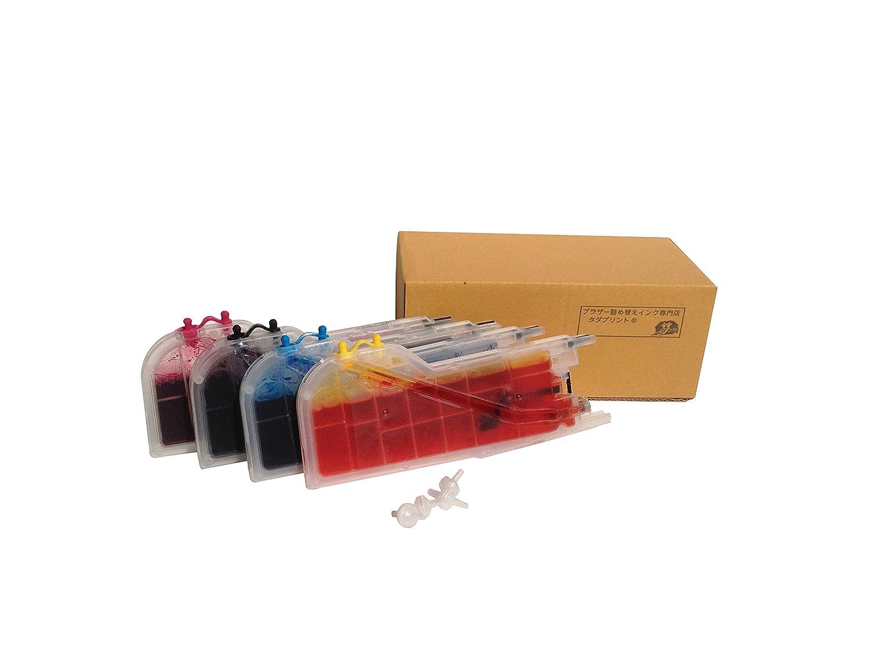 タダプリント ブラザー工業 互換インク 4色セット LC12-4PK(LC17-4PK)大容量カートリッジ(12本相当分)