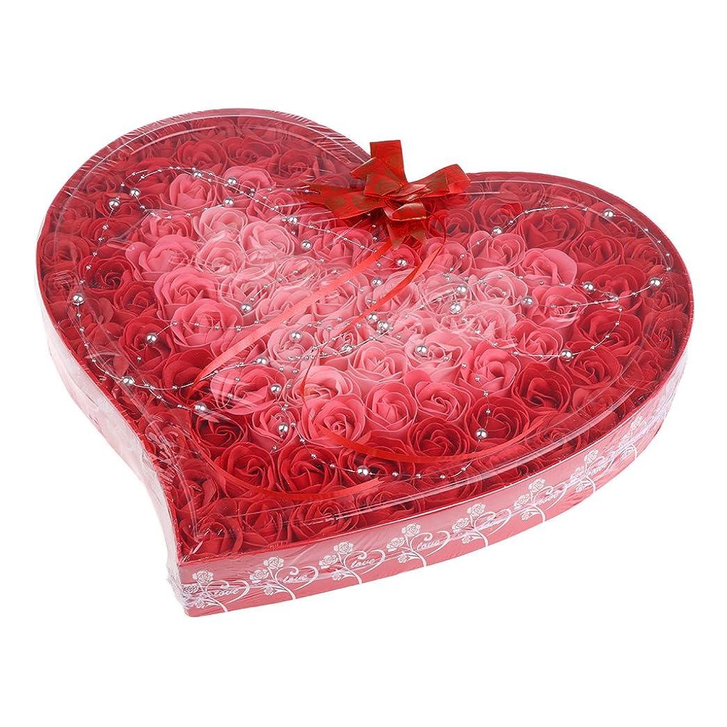 パンサー精査召喚するPerfk ソープフラワー 石鹸花  造花 フラワー ギフトボックス  誕生日 母の日 記念日 先生の日 バレンタインデー プレゼント 全4色選べる - 赤