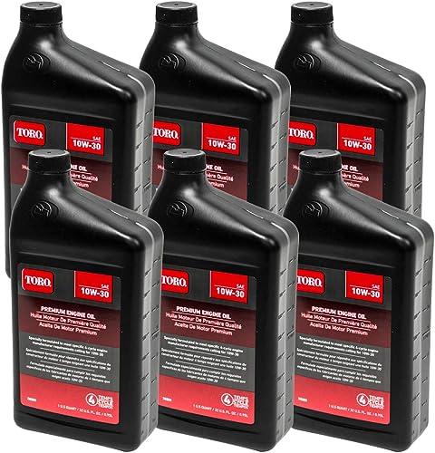 popular Toro 6PK 32oz Genuine outlet sale OEM SAE 10W-30 4 Cycle Engine Oil high quality 38280 sale