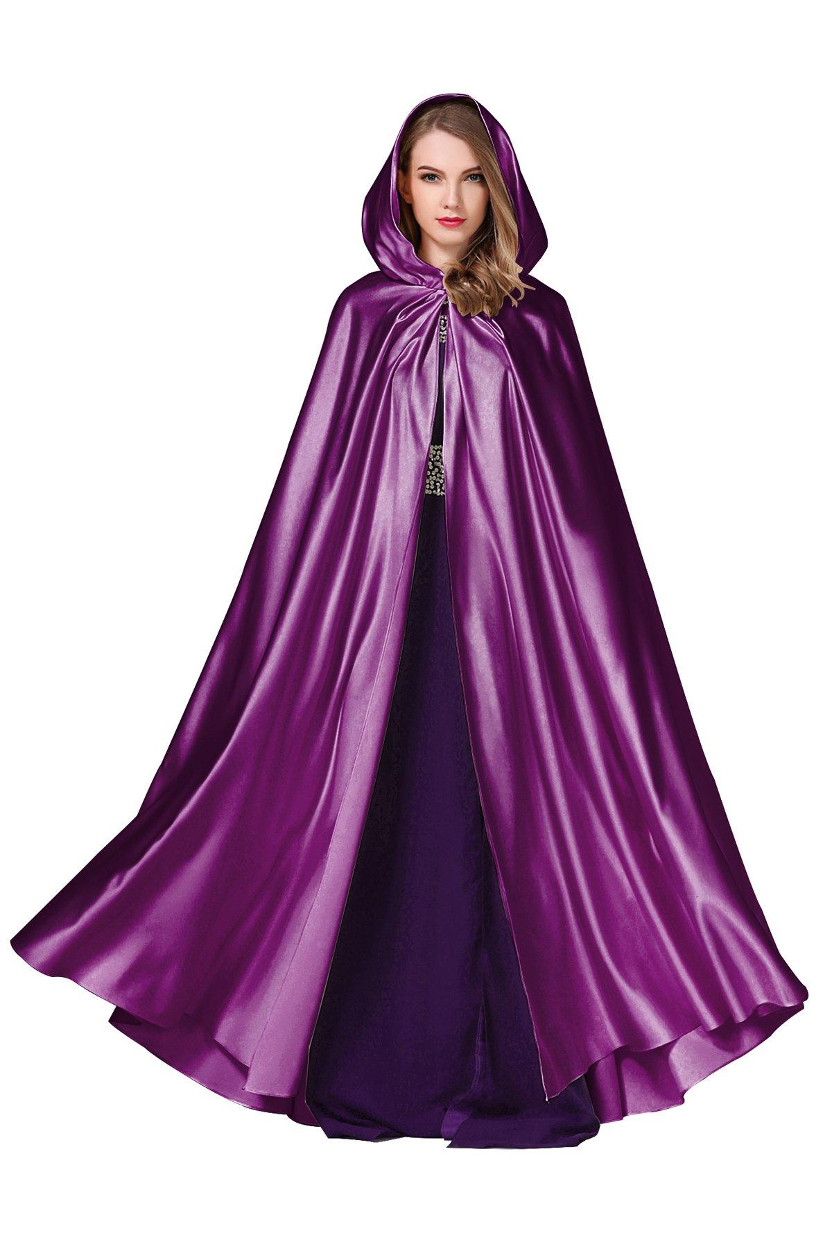 BEAUTELICATE Womens Wedding Hooded Cape Bridal Cloak Poncho Full Length More Colors