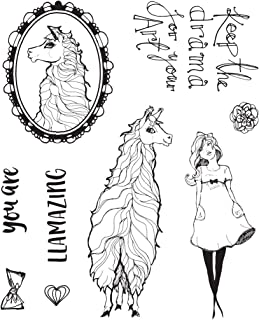Spellbinders JDS-055 Llama Drama Clear Whimsical and Wild Collection by Jane Davenport Stamp Set