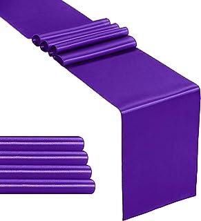 Oval Acrylic Table Runner Purple