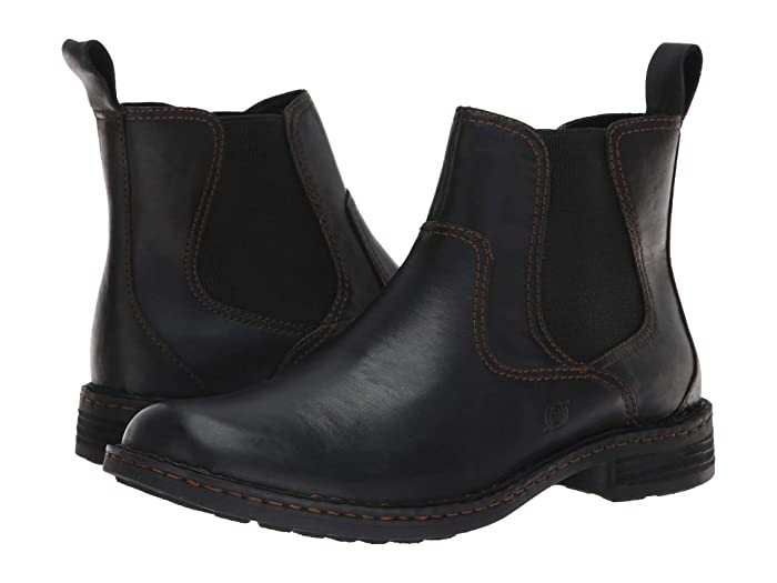 Born  Hemlock (Black Full Grain) Mens Pull-on Boots