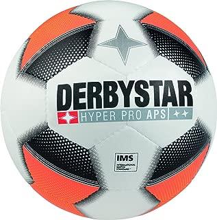 Derbystar Adult Hyper Pro Aps Football–White/Orange/Black, 5
