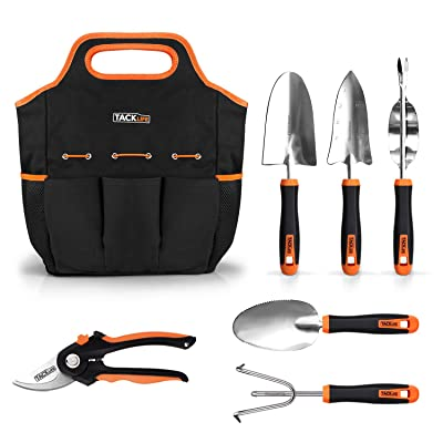 TACKLIFE Garden Tools Set, 7 Piece Stainless St...