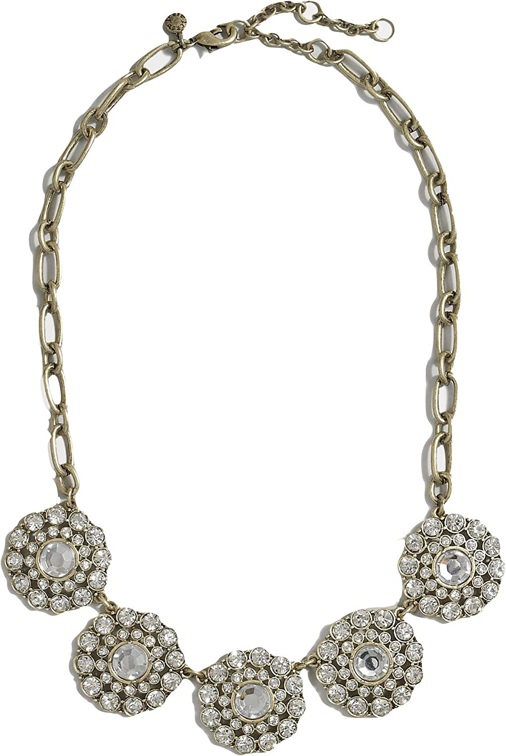 J Crew Layered Circle Crystal Statement Necklace