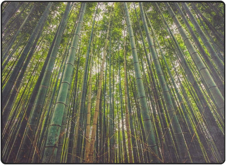 FAJRO Bamboo Forest Nature Rugs for entryway Doormat Area Rug Multipattern Door Mat shoes Scraper Home Dec Anti-Slip Indoor Outdoor