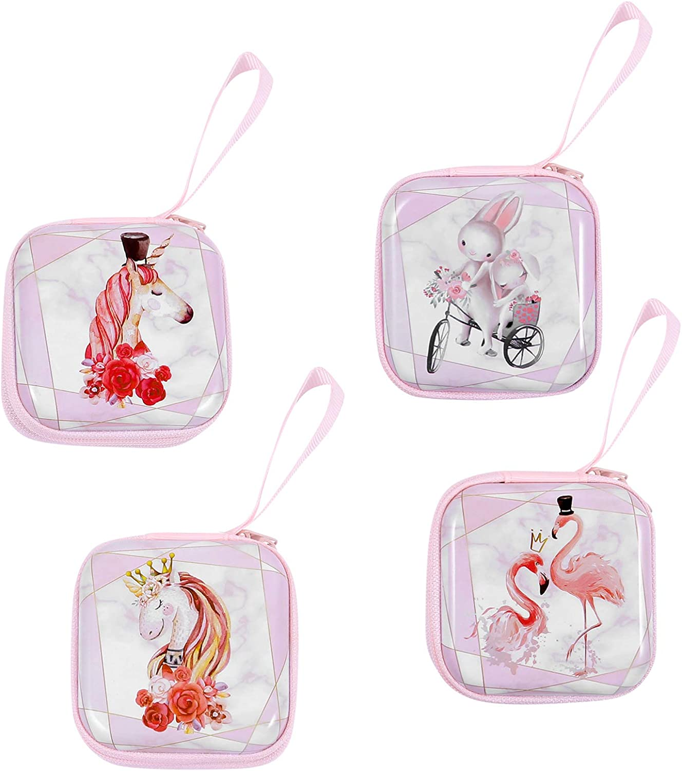 KESYOO 4pcs Unicorn Coin Purse Coin Pouch Girls Small Purse Change Clutch Make Up Bag Tote Wallet for Women Girl Kids Storage Mixed Color
