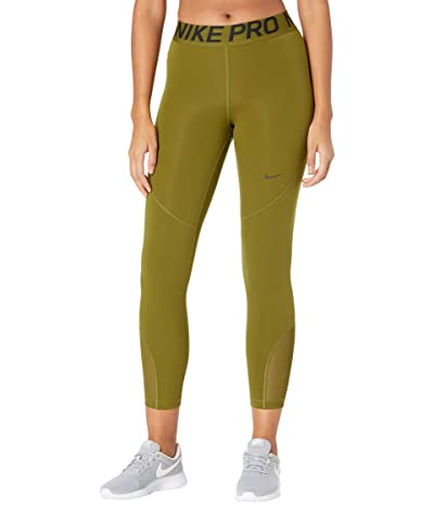 Nike Pro Crop Tights (Olive Flak/Black) Women