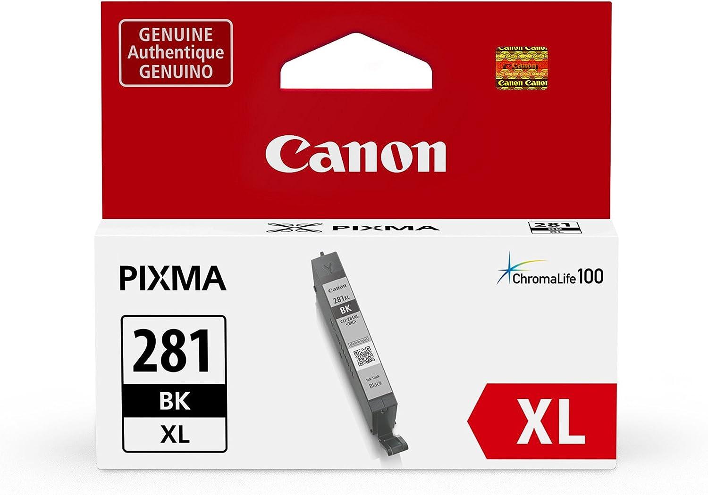 Canon CLI-281XL Black Ink Tank, Compatible to TR8520,TR7520,TS9120,TS8120 and TS6120 Printer