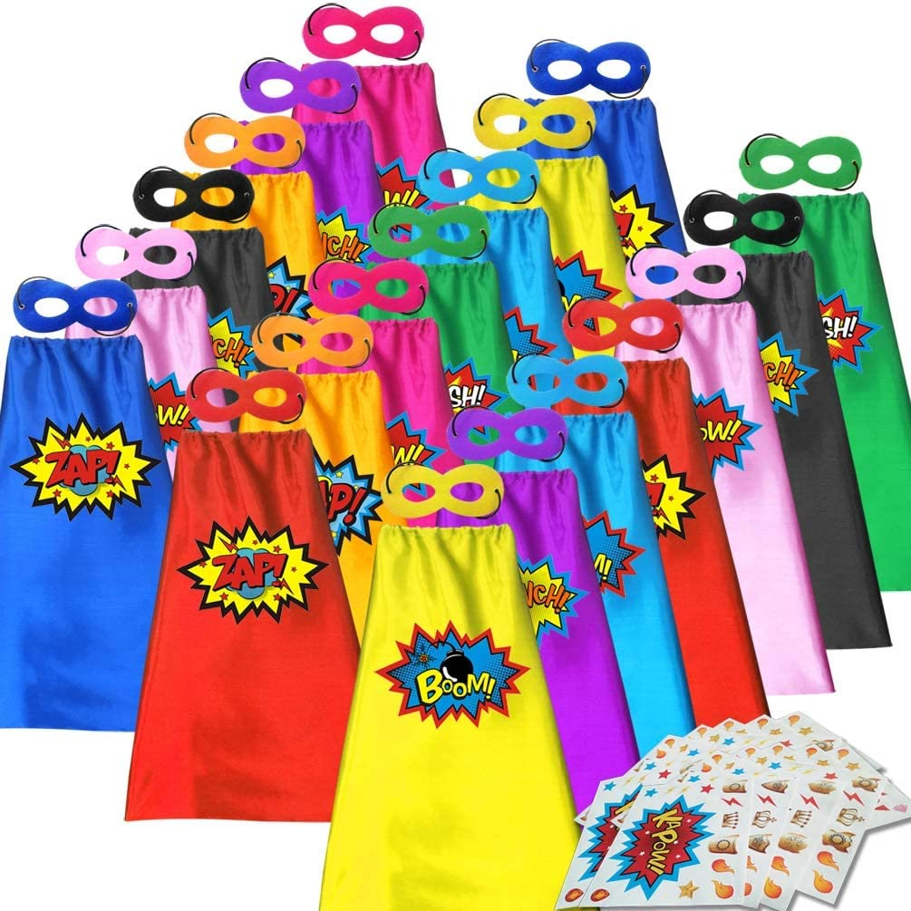 ADJOY Superhero Capes and Masks for Dress - Halloween Kids Party Dallas Mall Nippon regular agency