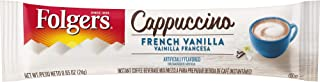 Folgers Cappuccino Single Serve Mix Packets, French Vanilla, 32 Count, Packaging May Vary