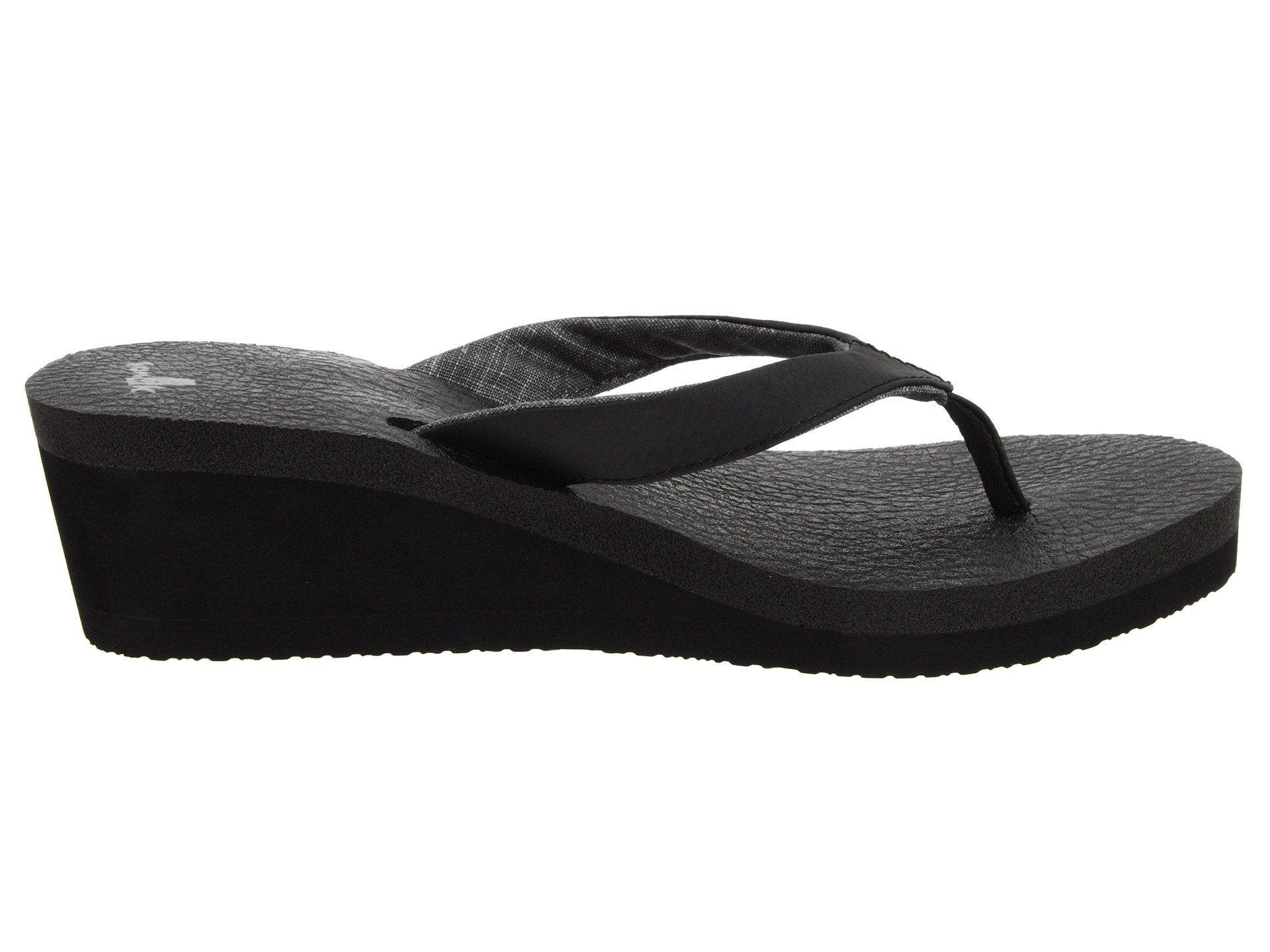 Sanuk Black Sanuk Mat Wedge Yoga Yoga TWqUz7