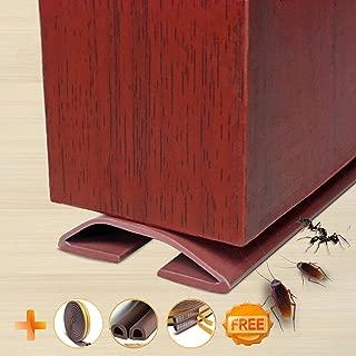 Under Door Draft Blocker Draught Excluder Self-Adhesive Rubber Door Bottom Seal Strip Under Door Sweep Weather Stripping Door Gap Stopper Soundproofing Noise Insulation 39
