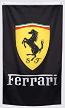 WHGJ Car Flag 3x5 ft for Black Ferrari Racing Car Garage Decor Banner