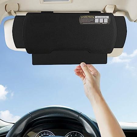 Wanpool Auto Sonnenblenden Verlängerung Blendschutz Sonnenschutz Für Fahrer Oder Vordersitz 1 Stück Auto