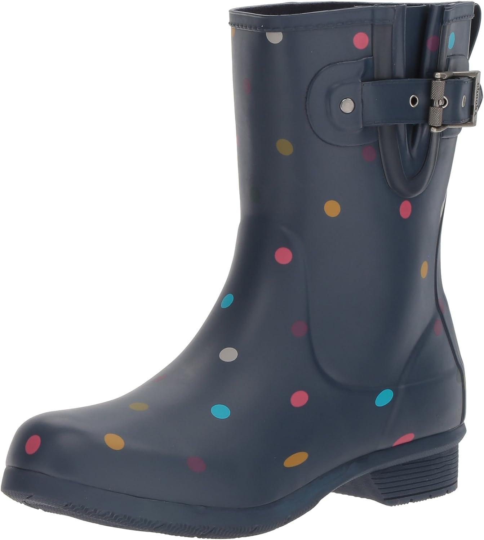 Chooka Women's Printed Mid Memory Foam Rain Boot