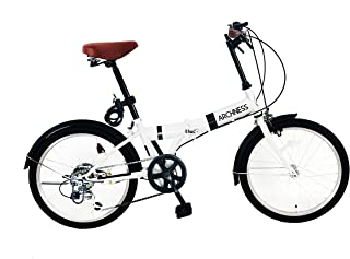 ARCHNESS 206-A 折りたたみ自転車 20インチ 6段変速 ワイヤー錠・LEDライト付