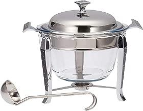 Regent Brilliant Stainless Steel Round Soup Warmer, 4 Liter - Multi Color