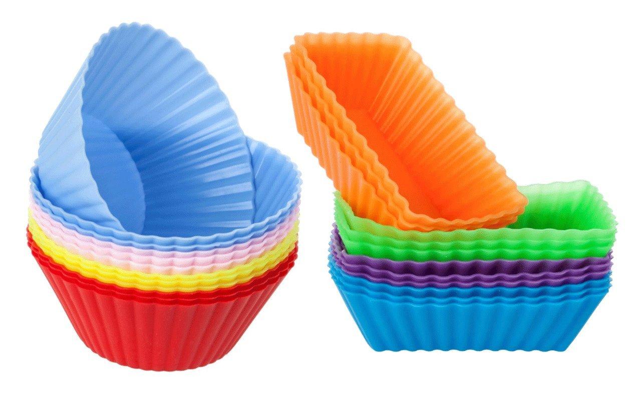 Cutequeen Trading Rectangular Silicone Cupcake