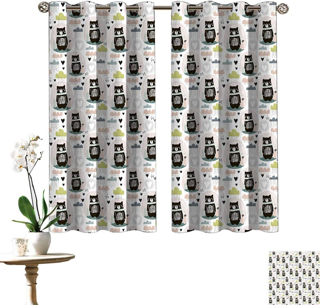Kids Decor Oakland Mall Thermal Insulated Curtain Cute Pattern Easy-to-use with Cartoon