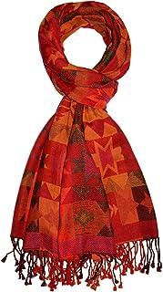 9324ff8a14 Lorenzo Cana Pashmina de 90% Cotton et 10% Laine pour l`homme – écharpe  avec de laine merino - 70 cm x 180 cm - une sensation de luxe en rouge  orange rose ...
