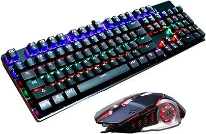 Snfgoij Mechanische Tastatur Maus-Set Desktop-Kabel-Spiele Arbeiten Schlanke Tastatur Black Schätzpreis : 76,99 €