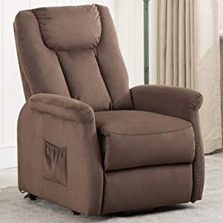ANJ Power Lift Recliner Chair for Elderly Wide and Heavy Duty, Contemporary Reclining Lift Motor W/Remote Control, Chocolate