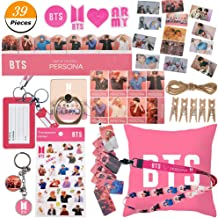 Youyouchard Kpop BTS Gifts Set for Army, Map of The Soul Persona Pillowcase/Sticker/Photo Card/Lanyard/Finger Ring/Keychain/Button Pins/Badge Holder/Rope/Clip(Version 2-5)