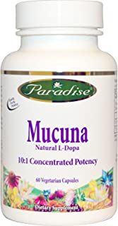 Paradise Herbs, Organics, Mucuna, 60 Veggie Caps