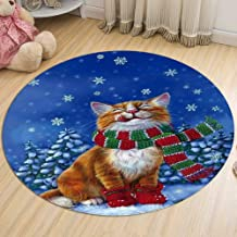 Bedroom Round Rugs Living Room Study Non-Slip Coffee Table Computer Chair Cushion Corridor Carpet Flannel Washable,5,60cm