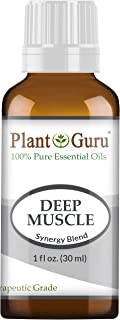 Deep Muscle Essential Oil Blend 1 oz / 30 ml 100% Pure, Undiluted, Therapeutic Grade. Great for Joint, Neck, Back, Spasms, Stiffness, Sore Muscle Pain.