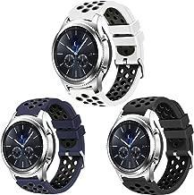 Creategreat Samsung Gear S3Frontier ve klasik saat, yumuşak nefes alabilir Sport bantlarında ile havalandırma delikleri, Samsung Gear S3Smart Watch Band