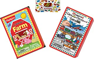 Gigi Jen's Gifts Magnetic Fun Activity Set - Magnetic Cars Planes & Trains - Magnetic Farm - Candy (3 Items)