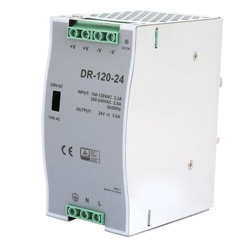 100~240V 24V 5A 35mm Fuente de alimentación de conmutación de carril DIN Eficiente AC/DC Carril DIN industrial Fuente de alimentación de 120W Modulación de ancho de pulso para industrial