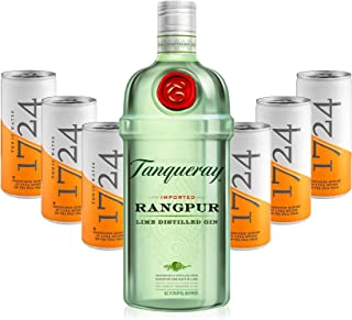 Gin Tonic Set - Tanqueray Rangpur Lime Destilled Gin 0,7l 700ml 41,3% Vol  6x 1724 Tonic Water 200ml Dosen inkl. Pfand EINWEG -Enthält Sulfite