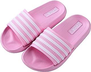 Ku-lee Kids Lightweight Slide Sandals- Wearproof Slides Sandals Shoes for Indoor or Outdoor-Flexible House Slipper Sport Slides for Boys Girls