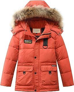 Janly Clearance Sale Abrigos de plumón con capucha para niños de 0 a 15 años de edad, abrigos y chaqueta, para invierno, N...