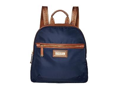 Calvin Klein Belfast Dressy Nylon Backpack (Navy) Backpack Bags